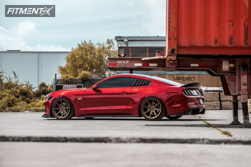 2016 Mustang Wheels >> 2016 Ford Mustang Velgen Vmb8 Accuair Fitment Industries