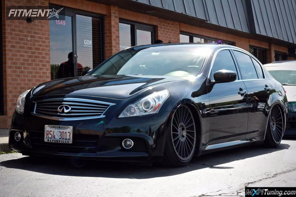 1 2010 G37 Infiniti Air Lift Performance Bagged Rotiform Ind T Machined Black