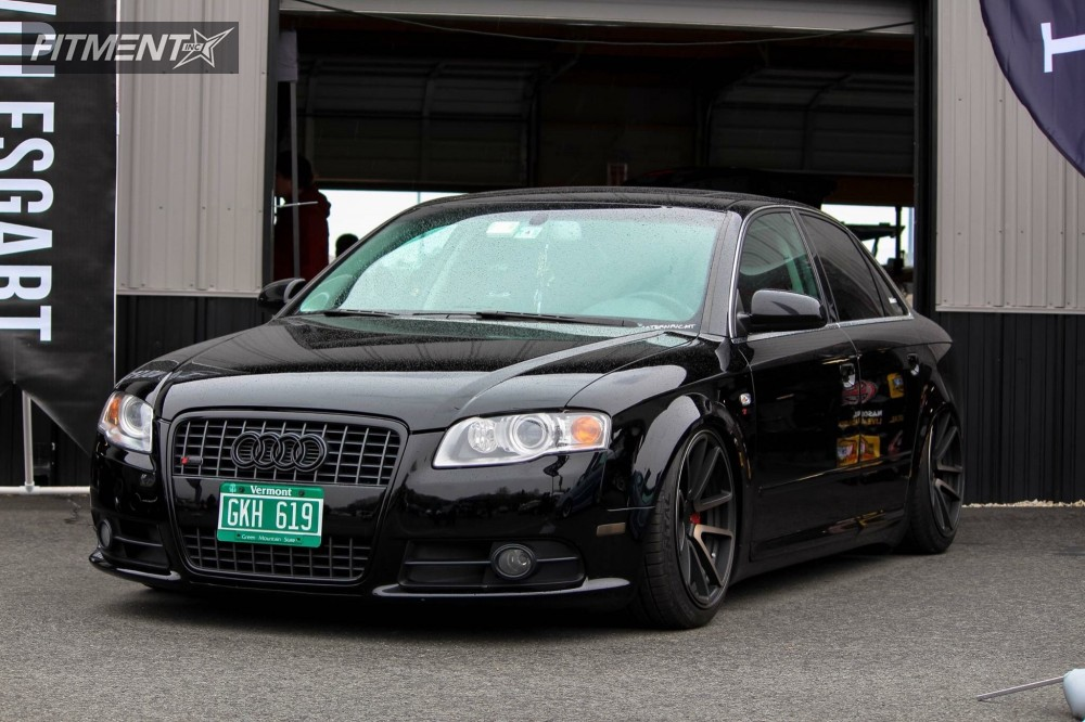 Tucked 2008 Audi A4 Quattro with 18x8.5 Rotiform Spf and Continental  235/40 on Air Suspension - Fitment Industries Gallery