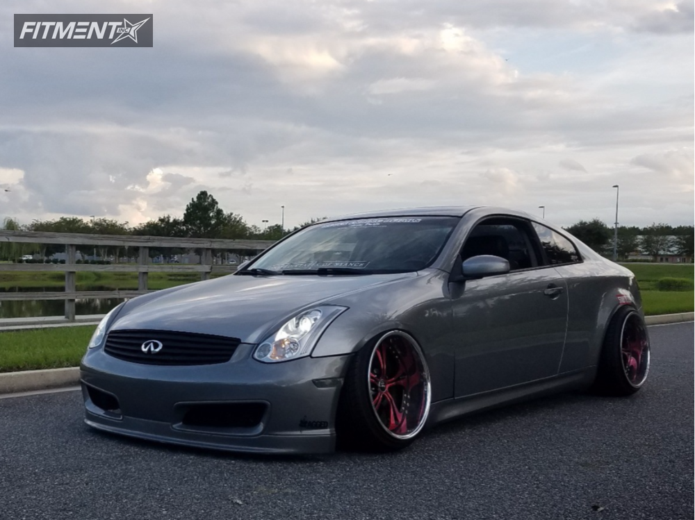 1 2006 G35 Infiniti Air Lift Performance Air Suspension Weds Cerberus 2 Red