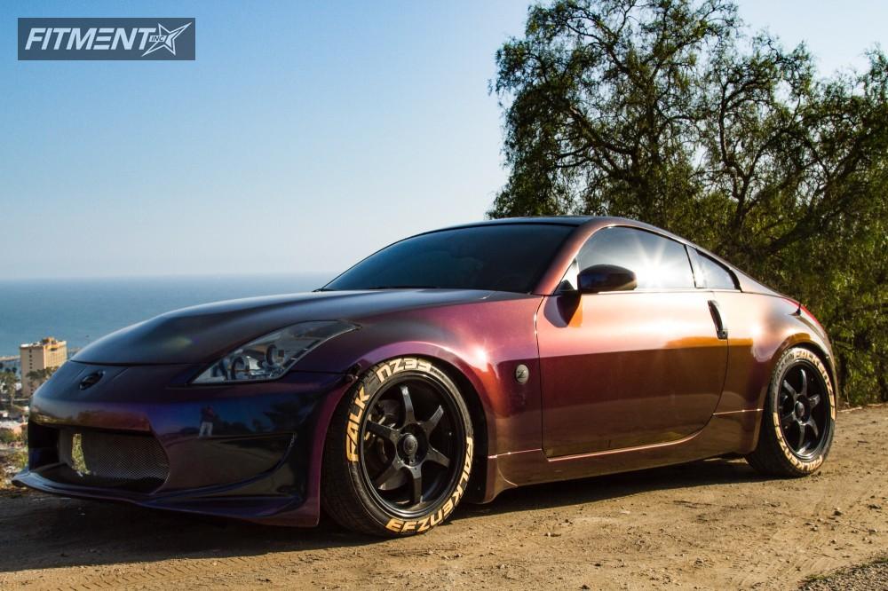 1 2008 350z Nissan Tein Coilovers Konig Backbone Matte Black