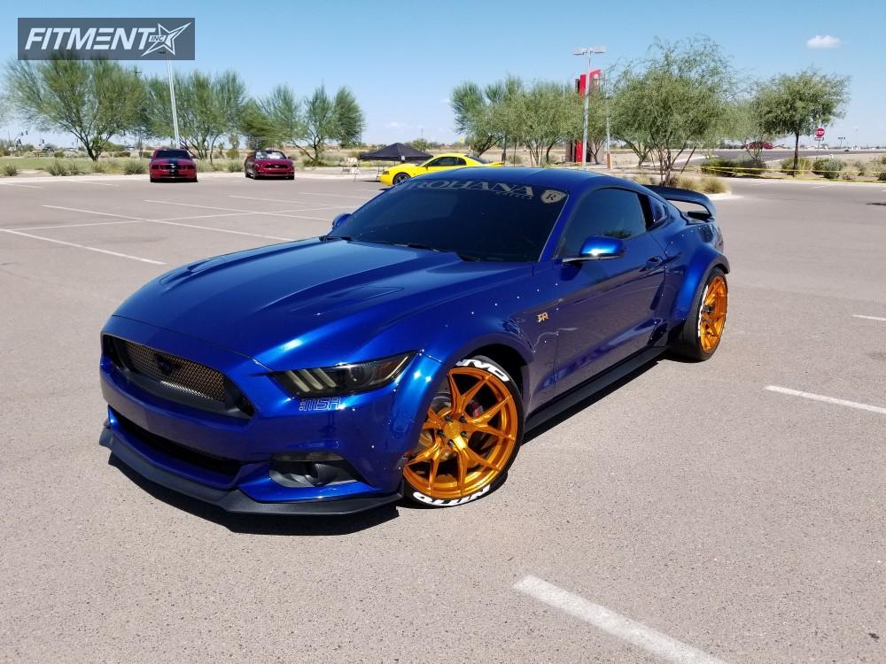 1 2015 Mustang Ford Eibach Lowering Springs Rohana Rfx5 Gold