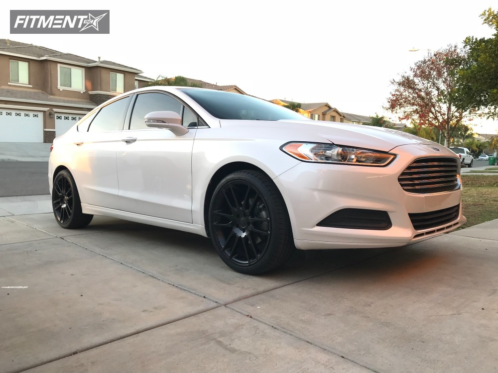 Ford Fusion Black Rims >> 2014 Ford Fusion Kmc Km696 Stock Stock Fitment Industries