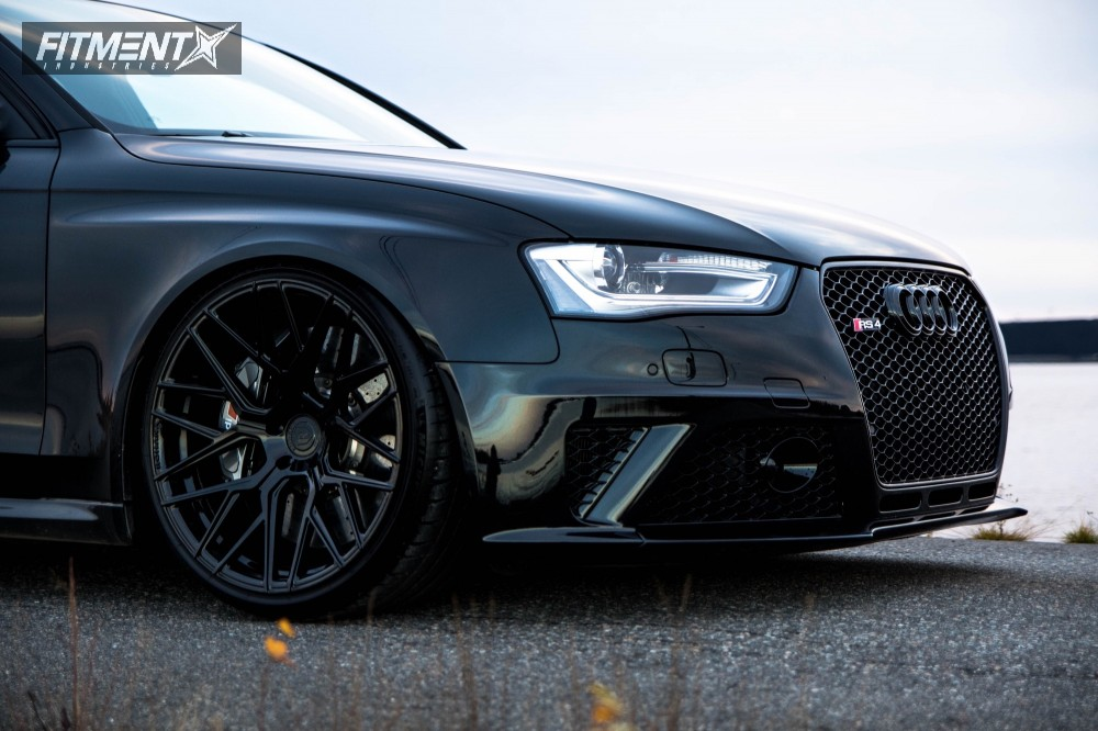 9 2014 Rs4 Audi Kw Coilovers Rohana Rfx10 Black