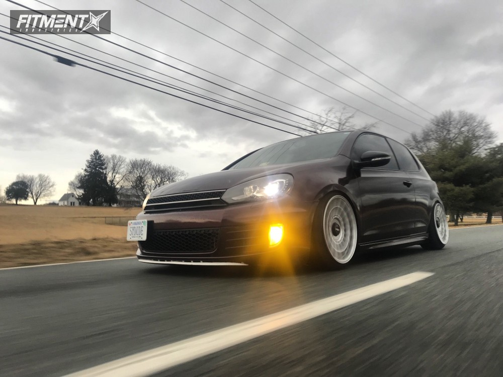 Poke 2011 Volkswagen GTI with 18x9.5 Rotiform Las-r and Achilles Atr Sport 2 205/40 on Coilovers - Fitment Industries Gallery