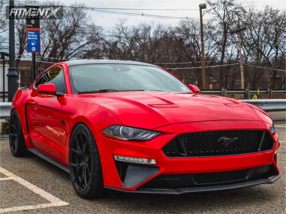 1 2018 Mustang Ford Eibach Lowering Springs Rohana Rfx5 Matte Black