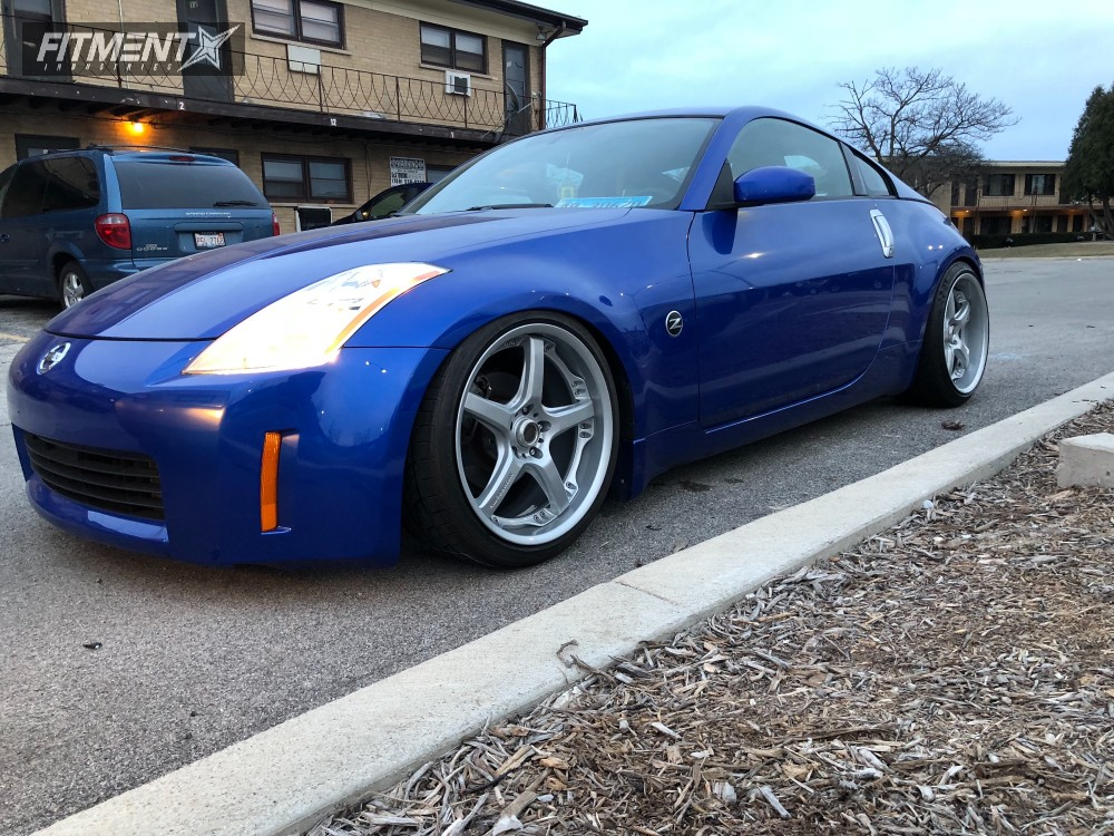 1 2005 350z Nissan Top Speed Pro Coilovers Volk Gts Silver ...