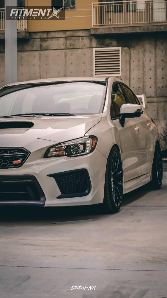 1 2018 Wrx Sti Subaru Fortune Auto Coilovers Option Lab R716 Black