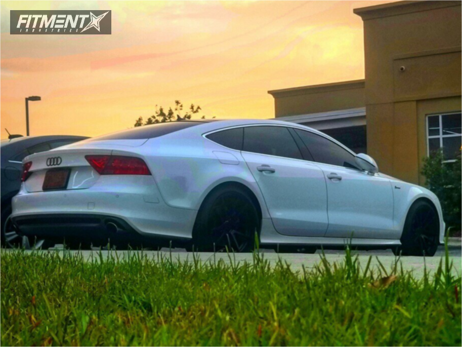 Nearly Flush 2012 Audi A7 Quattro with 20x10 Rotiform Spf and Continental A/t Sport 265/35 on Stock Suspension - Fitment Industries Gallery