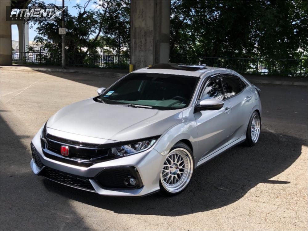 1 2018 Civic Honda Eibach Lowering Springs Esr Sr01 Silver