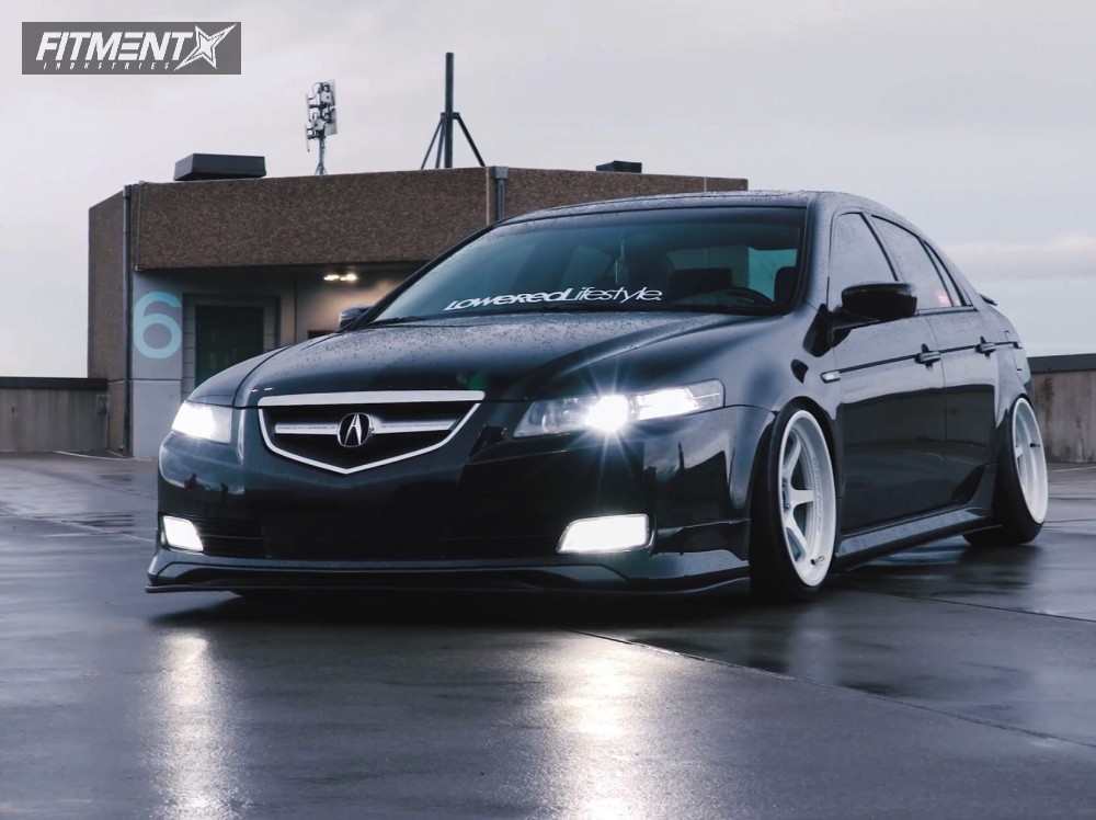 Nearly Flush 2006 Acura TL with 18x9.5 Cosmis Racing XT-006R and Nankang NS-20 215/35 on Coilovers - Fitment Industries Gallery