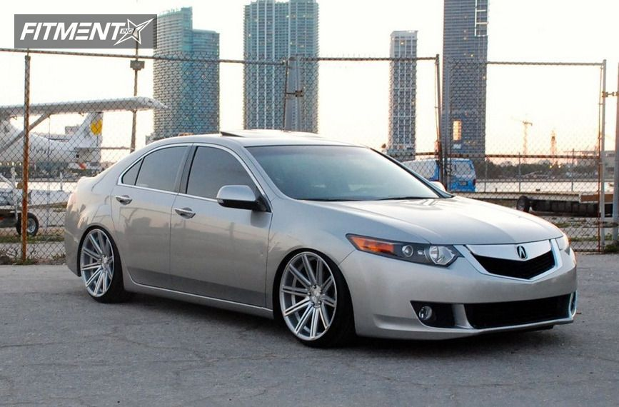 2009 acura tsx vossen cv4 lowered on springs. Black Bedroom Furniture Sets. Home Design Ideas