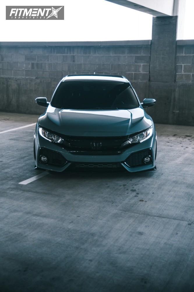 2 2017 Civic Honda Air Lift Performance Air Suspension Rotiform Rse Silver