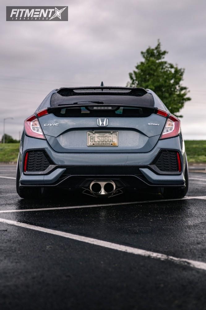 3 2017 Civic Honda Air Lift Performance Air Suspension Rotiform Rse Silver