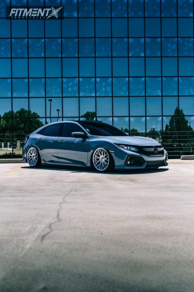 4 2017 Civic Honda Air Lift Performance Air Suspension Rotiform Rse Silver