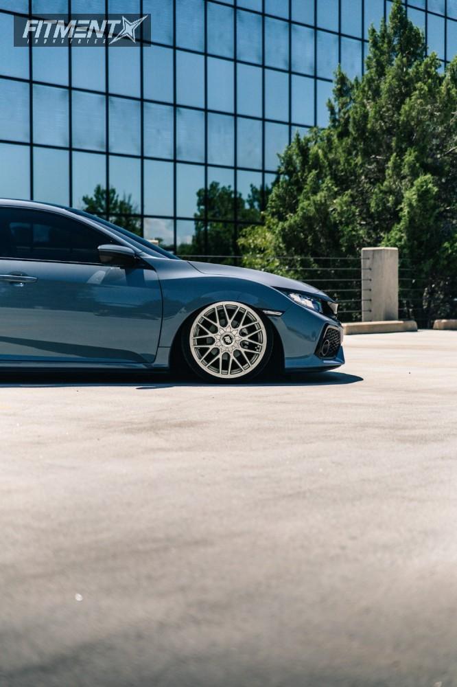 9 2017 Civic Honda Air Lift Performance Air Suspension Rotiform Rse Silver