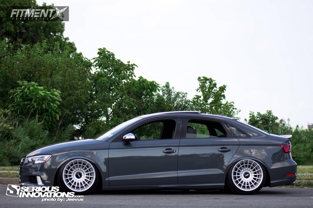 HellaFlush 2017 Audi A3 Quattro with 18x9.5 Rotiform Las-r and Hankook Ventus V2 Concept 2 225/40 on Air Suspension - Fitment Industries Gallery