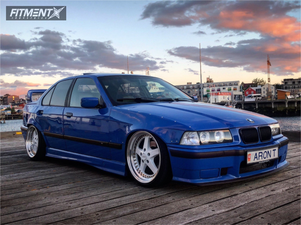 1996 Bmw 328i Base With 18x9 5 Esr Sr04 And Nankang 225x35 On Air Suspension 470081 Fitment Industries