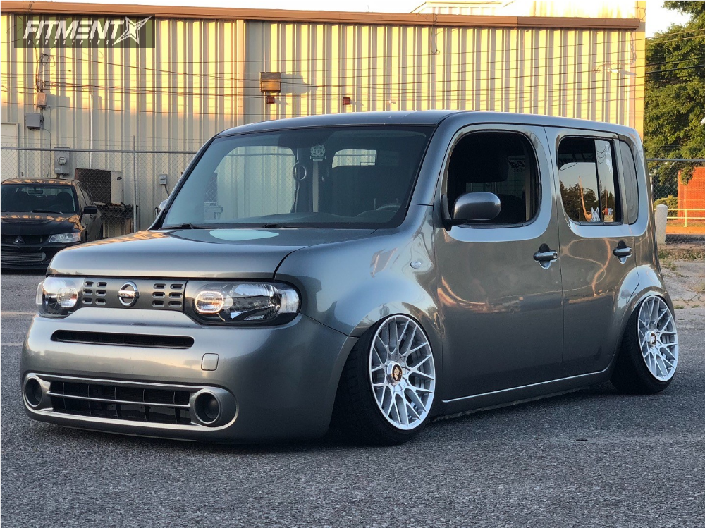 1 2009 Cube Nissan Air Lift Performance Suspension Rotiform Rse Silver
