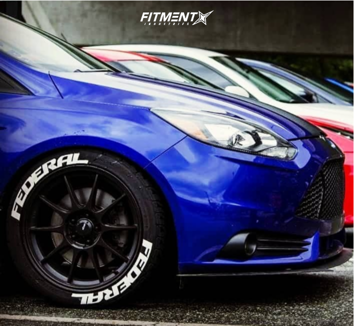 Nearly Flush 2014 Ford Focus with 18x8.5 Konig Dekagram and Federal Ss595 245/40 on Lowering Springs - Fitment Industries Gallery