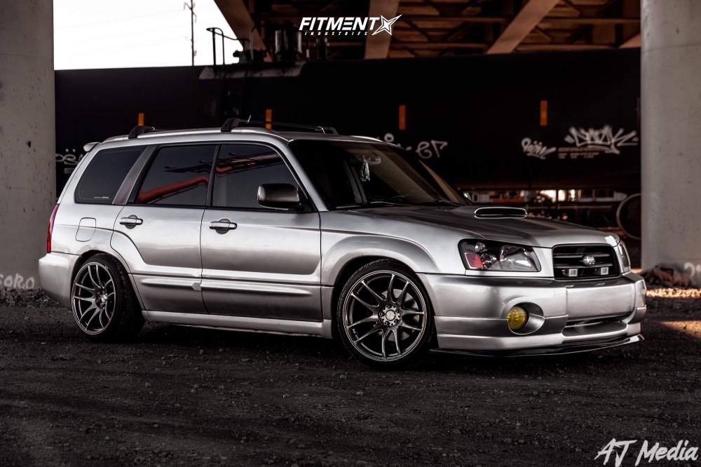 1 2005 Forester Subaru Xt Premium Tein Lowering Springs Esr Sr08 Machined Black