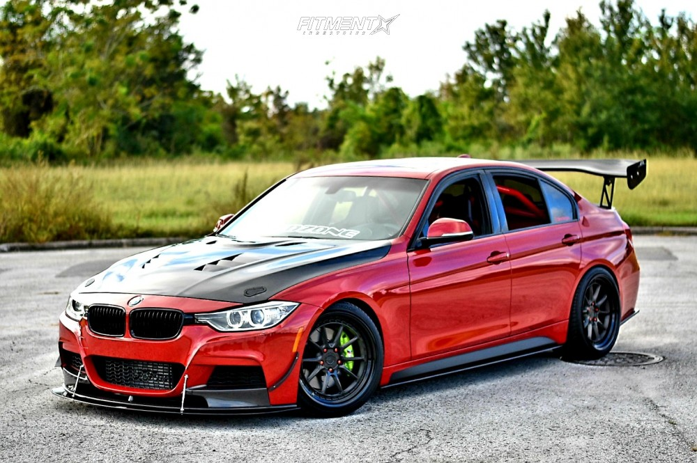 2013 Bmw 335i Base With 19x9 5 Bc Forged Mle10 And Hankook 245x35 On Coilovers 521907 Fitment Industries