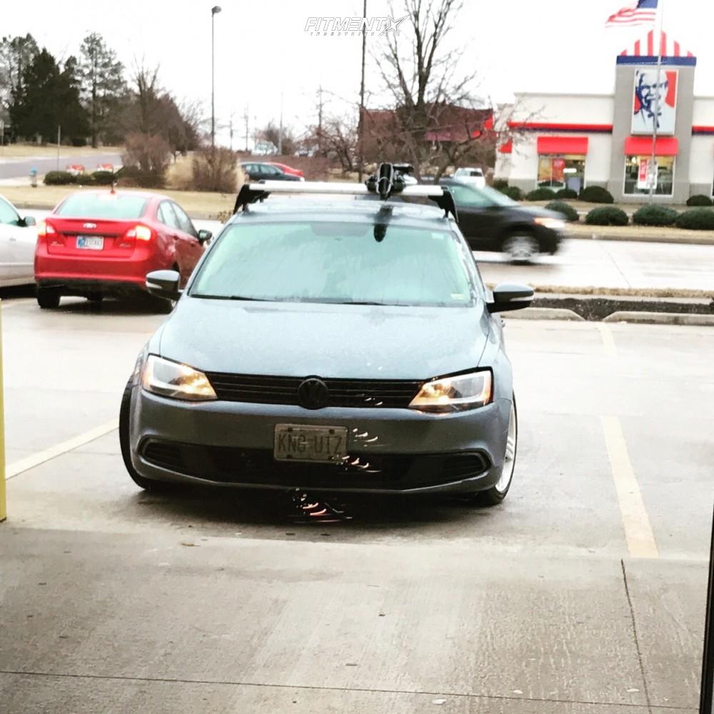 2 2011 Jetta Volkswagen Tdi Jom Coilovers Alzor 020 Gunmetal