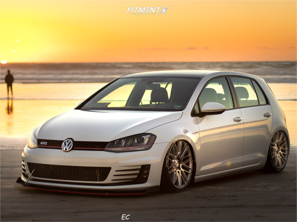1 2016 Gti Volkswagen Se Air Lift Performance Air Suspension Savini Bm13 Silver