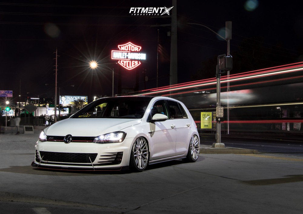 15 2016 Gti Volkswagen Se Air Lift Performance Air Suspension Savini Bm13 Silver