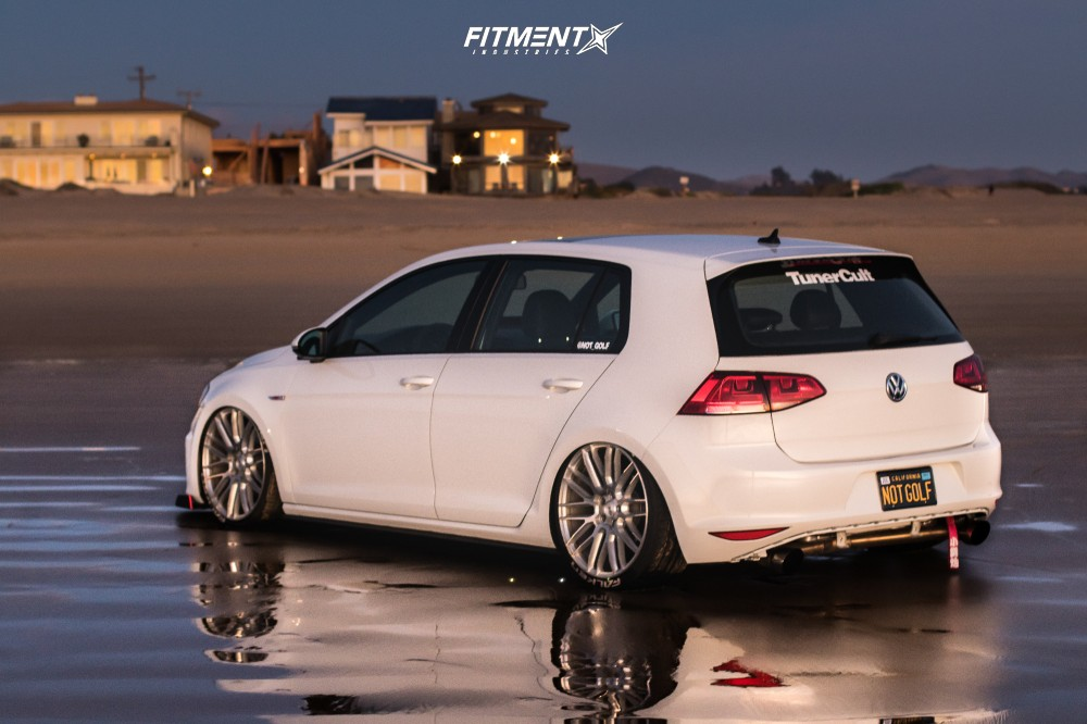 4 2016 Gti Volkswagen Se Air Lift Performance Air Suspension Savini Bm13 Silver