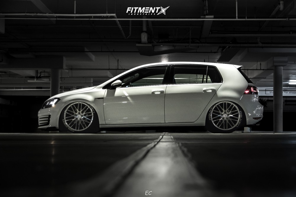 6 2016 Gti Volkswagen Se Air Lift Performance Air Suspension Savini Bm13 Silver