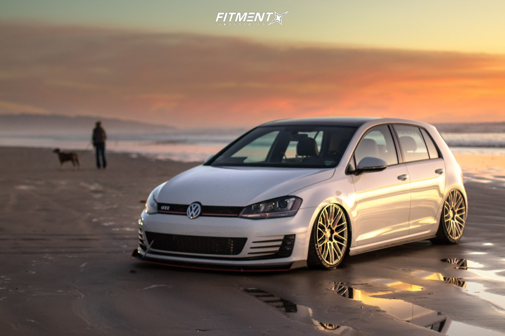 7 2016 Gti Volkswagen Se Air Lift Performance Air Suspension Savini Bm13 Silver