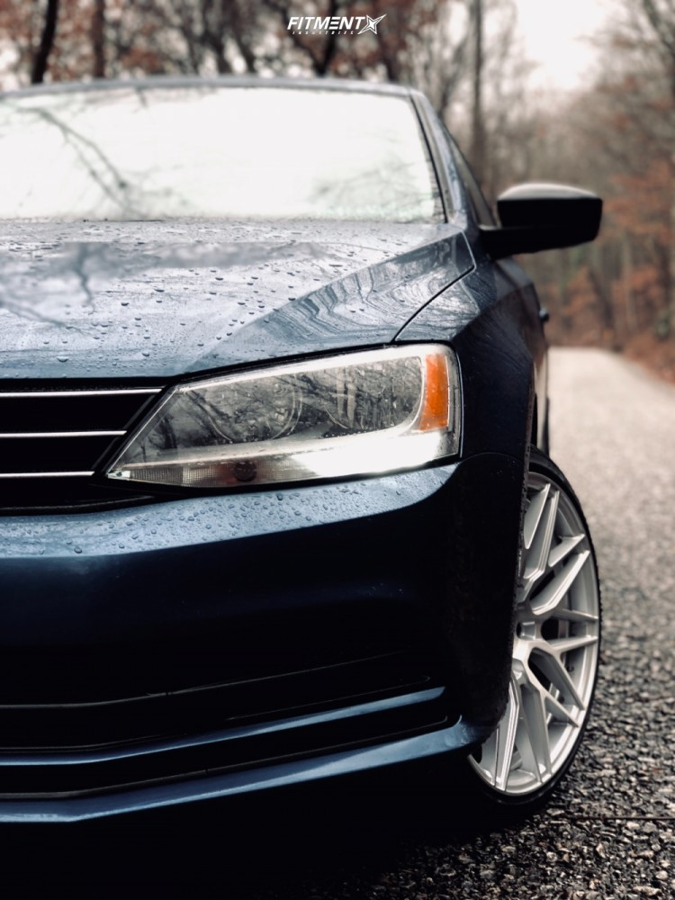 Poke 2015 Volkswagen Jetta with 18x8.5 F1R F103 and Westlake Sa07 215/35 on Stock Suspension - Fitment Industries Gallery