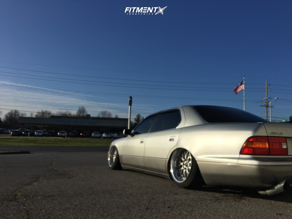 4 2000 Ls400 Lexus Base Airtekk Air Suspension Weds Kranze Erm Silver