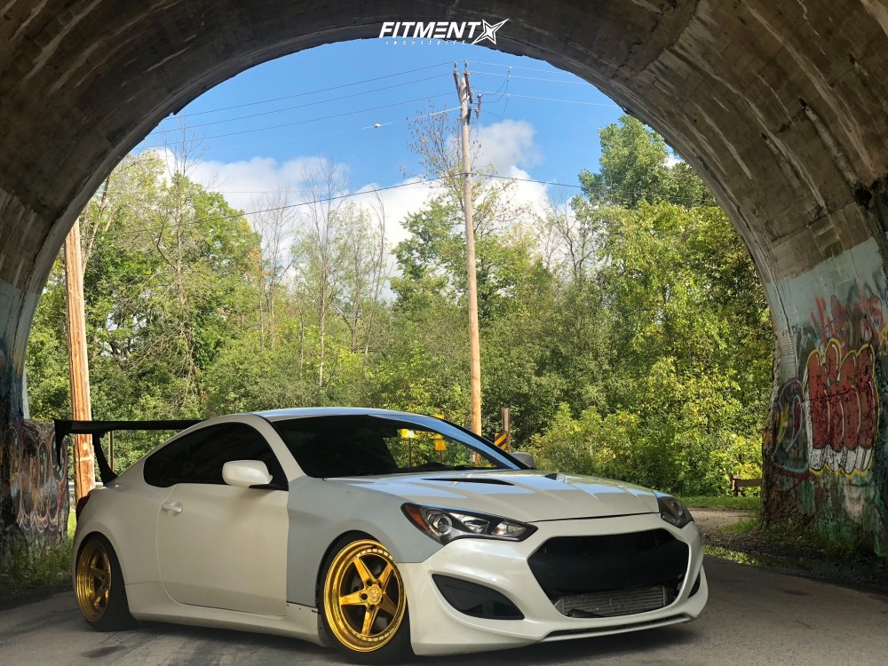 6 2013 Genesis Coupe Hyundai 20t K Sport Coilovers Aodhan Ds05 Gold