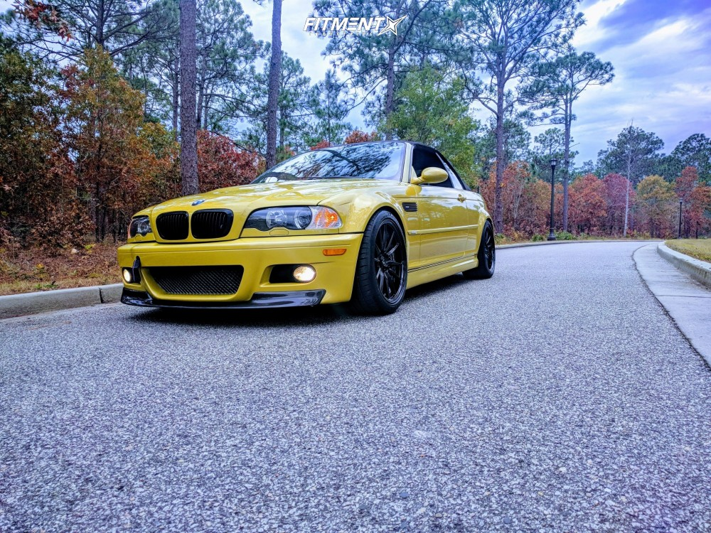 1 2001 M3 Bmw Base Bc Racing Coilovers Cosmis Racing R1 Black