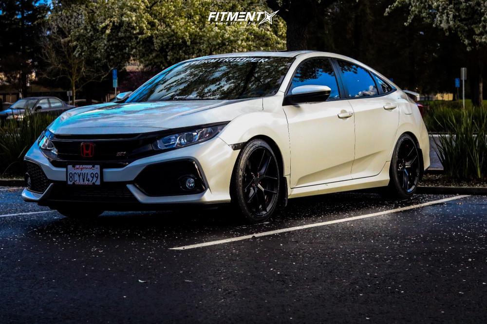 1 2018 Civic Honda Si Eibach Lowering Springs Rotiform Flg Black