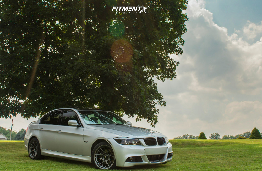 2010 Bmw 328i Xdrive Base With 17x9 Apex Arc 8 And Firestone 245x45 On Stock Suspension 632733 Fitment Industries