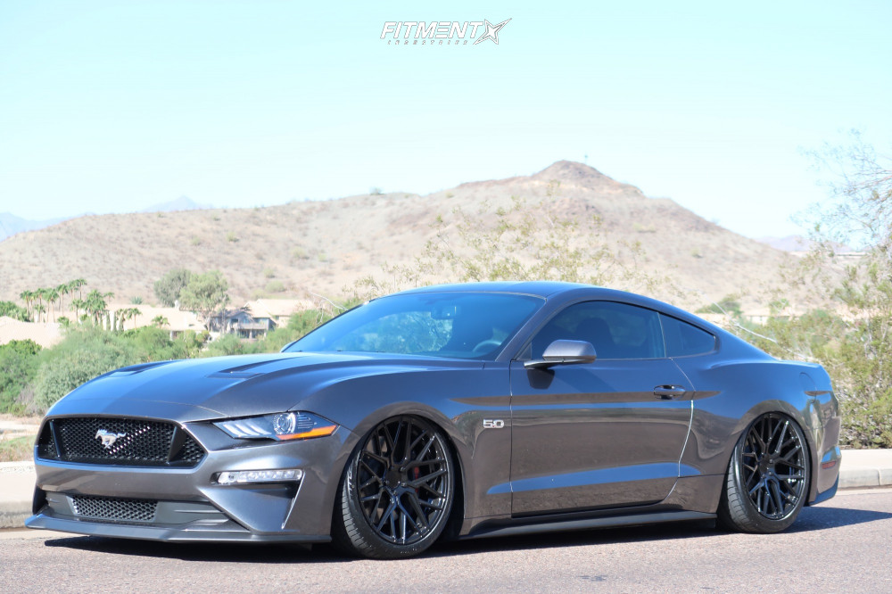 14 2018 Mustang Ford Gt Air Lift Performance Air Suspension Rohana Rfx10 Black