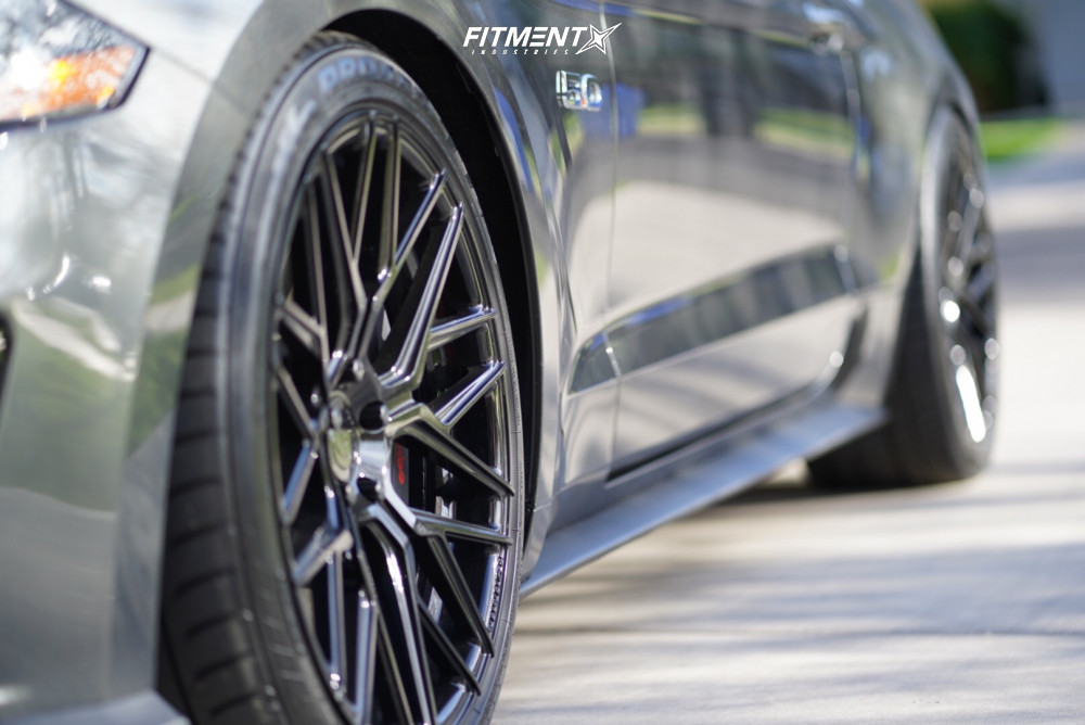 8 2018 Mustang Ford Gt Air Lift Performance Air Suspension Rohana Rfx10 Black