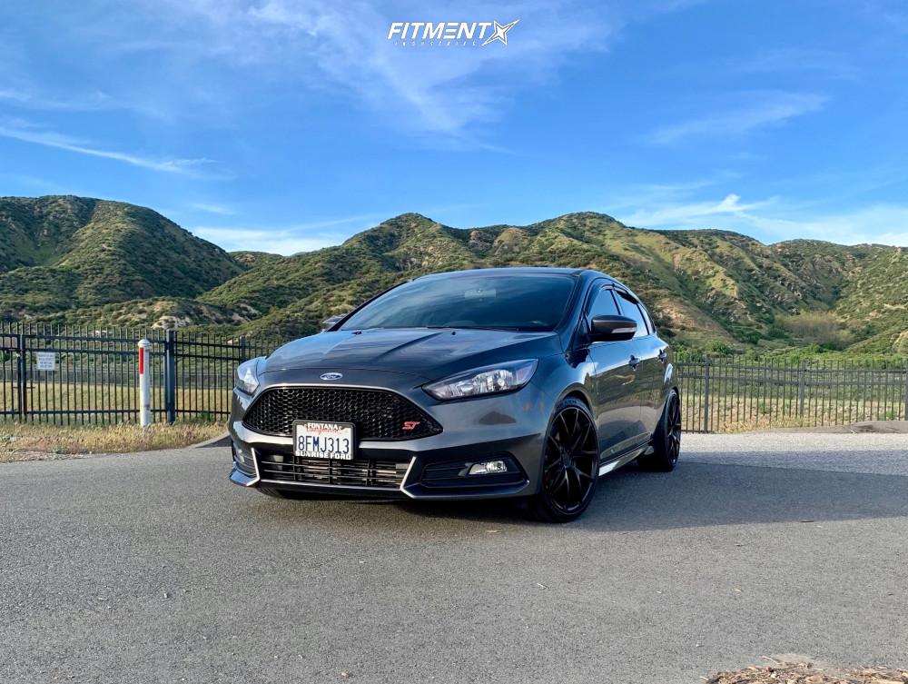 15 2018 Focus Ford St Hr Lowering Springs Niche Misano Matte Black