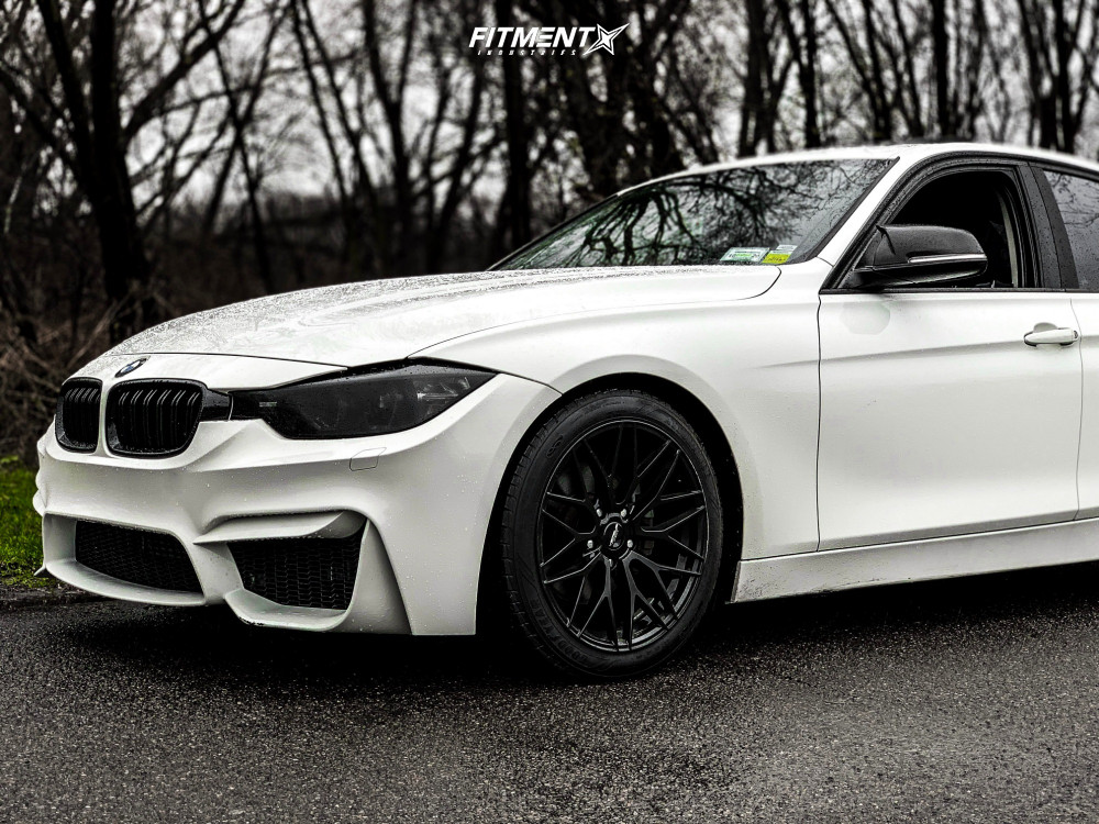 2013 Bmw 328i Xdrive Base With 18x8 5 Versus Racing Vs24 And Michelin 245x35 On Lowering Springs 674594 Fitment Industries