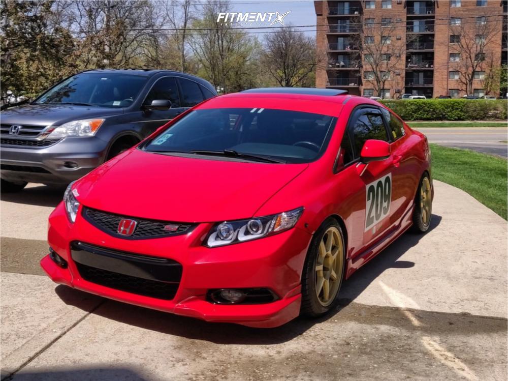 1 2012 Civic Honda Si Hfp Truhart Coilovers Konig Ultraform Gold