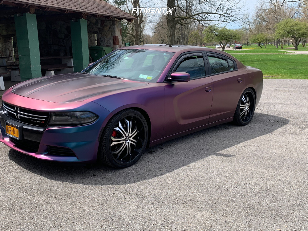 1 2015 Charger Dodge Se Hr Lowering Springs Vct Godfather Machined Black