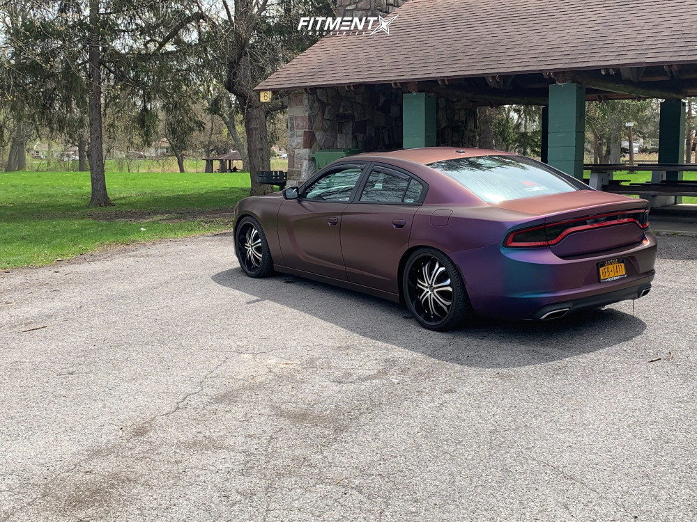 3 2015 Charger Dodge Se Hr Lowering Springs Vct Godfather Machined Black