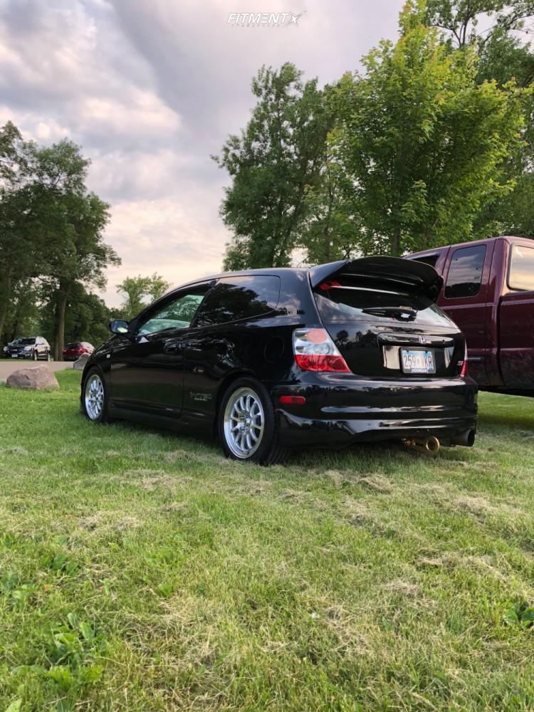 4 2004 Civic Honda Si Stagg Lowering Springs Konig Tweaked Silver