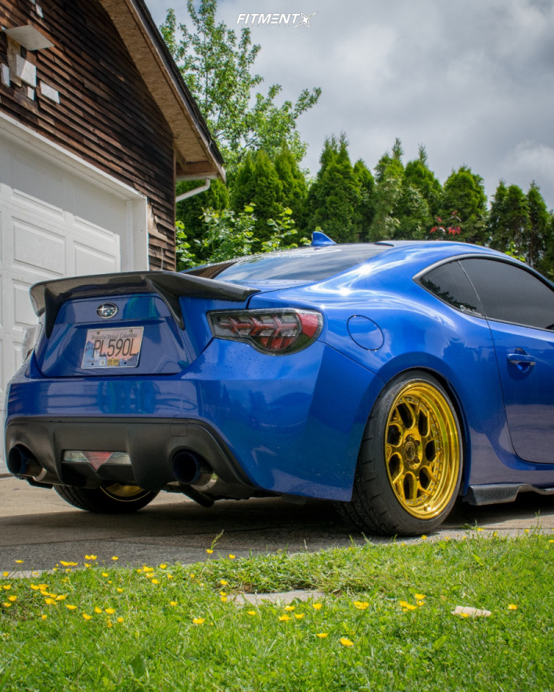 3 2016 Brz Subaru Sport Tech Isc Coilovers Aodhan Ds01 Gold