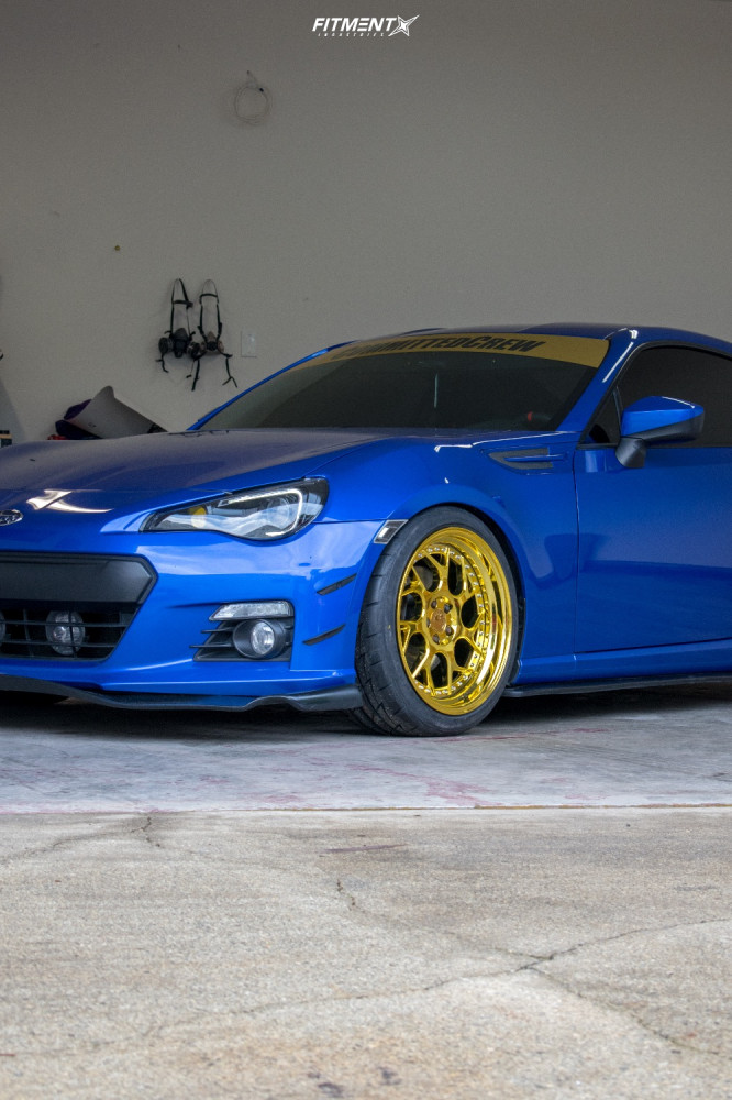 8 2016 Brz Subaru Sport Tech Isc Coilovers Aodhan Ds01 Gold