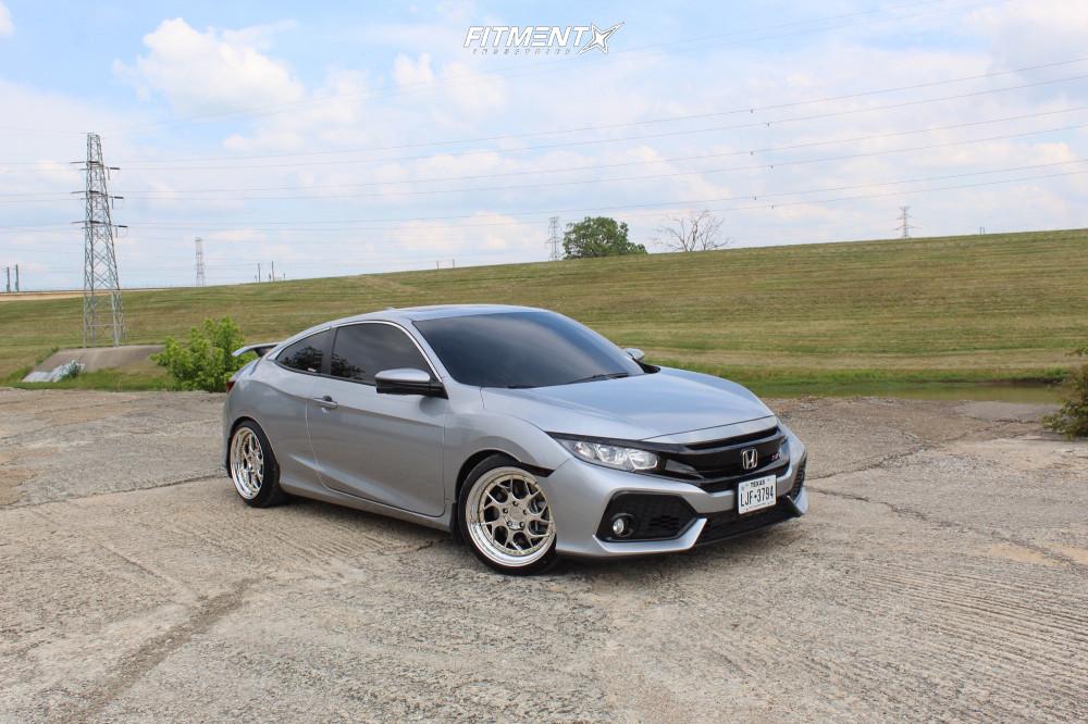 4 2018 Civic Honda Si Eibach Lowering Springs Aodhan Ds01 Chrome