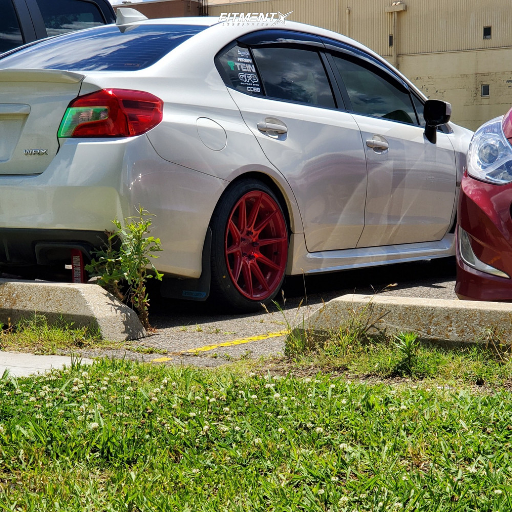 Nearly Flush 2019 Subaru WRX with 18x9.5 F1R F101 and Federal Ss595 225/40 on Lowering Springs - Fitment Industries Gallery